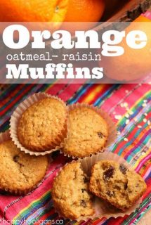 Orange Oatmeal Raisin Muffins - Happy Hooligans