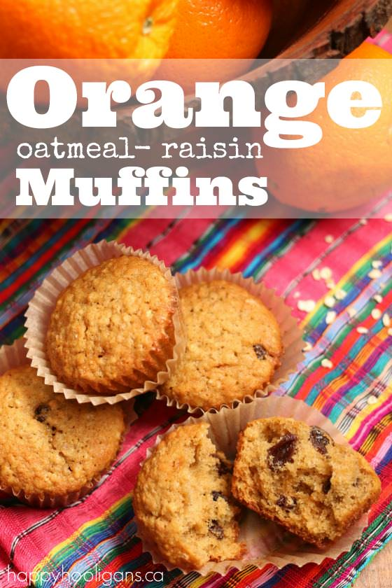 Orange Oatmeal Raisin Muffins feature photo
