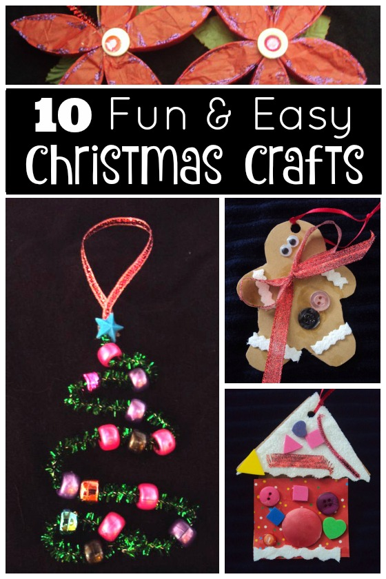 Homemade Christmas Craft Ideas For Kids Part - 22: 10 Fun And Easy Chrismas Crafts For Kids - Happy Hooligans