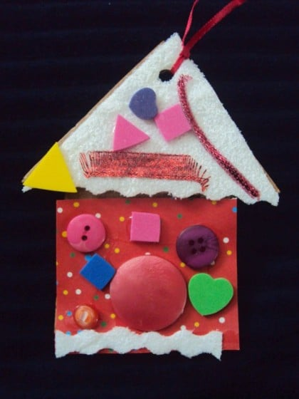 candy house christmas ornament