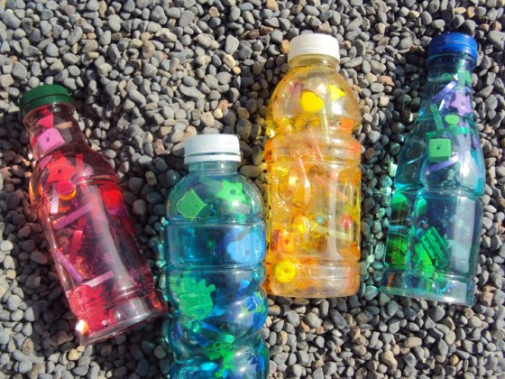 Recycled crafts happy hooligans kids crafting with for Water bottle recycling ideas