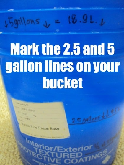5 gallon bucket for homemade laundry detergent