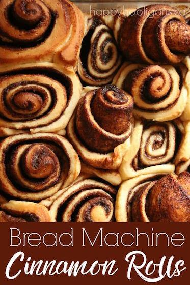 Bread Machine Cinnamon Rolls Happy Hooligans