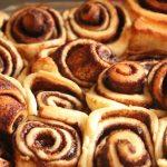 baked homemade bread machine cinnamon rolls