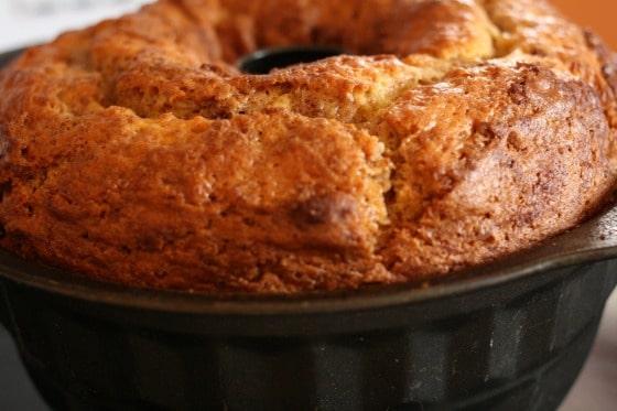 coffee cake in bundt pan