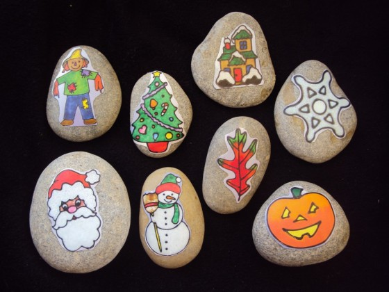 holiday story stones