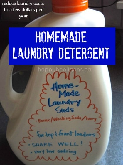 homemade laundry detergent - most popular posts of the year