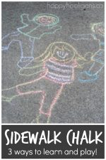 Sidewalk Chalk Activities for Preschoolers