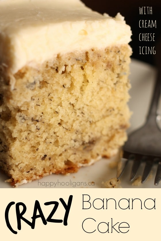 Best Ever Banana Cake Recipe With Cream Cheese Icing