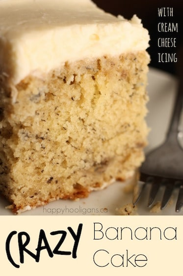 Crazy Banana Cake with Cream Cheese Icing - Happy Hooligans  copy