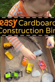 Easy Cardboard Box Construction Bin