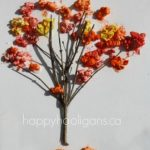 Fall Tree Craft with Popcorn