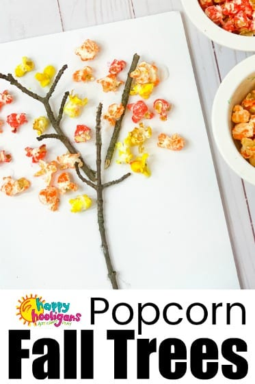 Popcorn Fall Tree Craft for Toddlers and Preschoolers