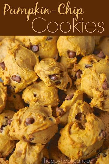 Pumpkin Chocolate Chip Cookie Recipe - Happy Hooligans