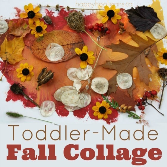 Toddler Made Fall Collage - square image