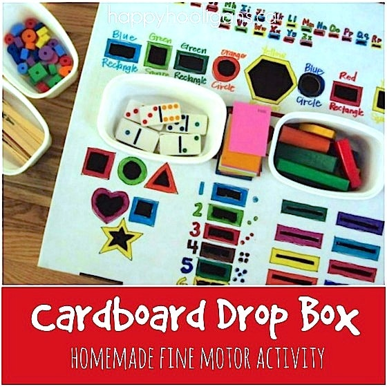 Fine Motor Drop Box for Toddlers and Preschoolers - Happy Hooligans