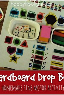 Fine Motor Drop Box – Homemade Activity for Toddlers and Preschoolers
