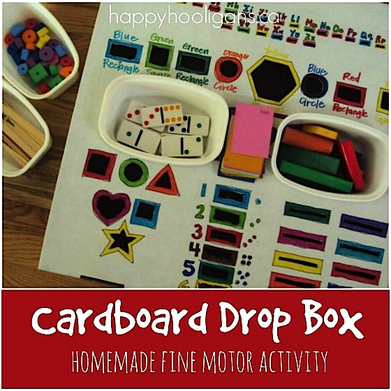 Homemade Fine Motor Drop Box for Toddlers and Preschoolers