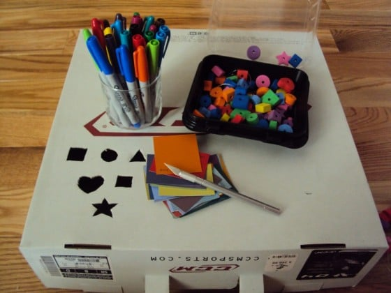 How to make a fine motor dropbox from a cardboard box