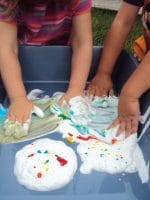 Playing with Shaving Cream and Food Colouring