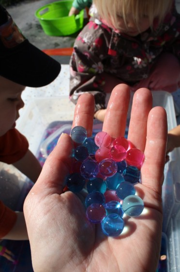 Water Beads Sensory Play for Preschoolers