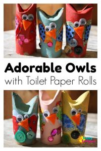 Adorable Toilet Paper Roll Owl Craft - Happy Hooligans