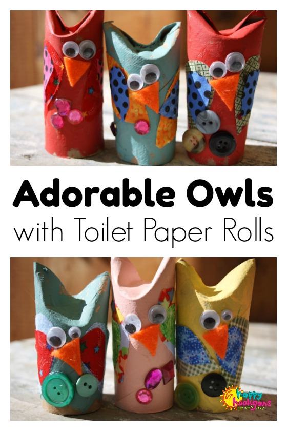 Adorable Toilet Paper Roll Owl Craft for Kids