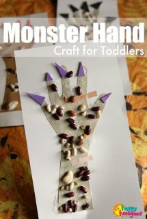 Monster Hands Halloween Craft for Toddlers