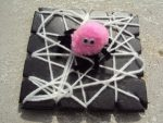 Pom Pom Spiders and Wooly Webs – a Weaving Activity and Halloween Craft