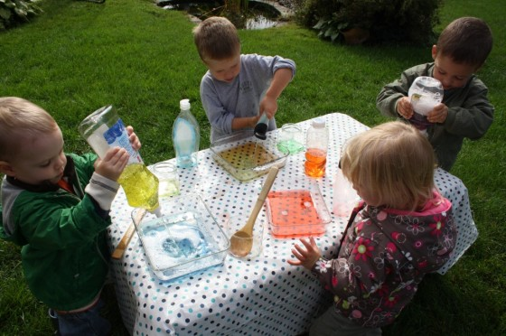 Coloured Water Experiment for Kids