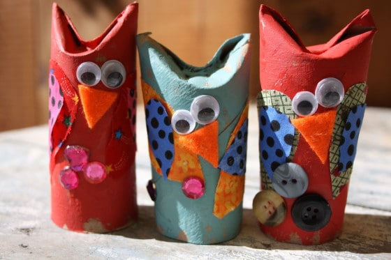 Easy adorable toilet roll owl craft for preschoolers