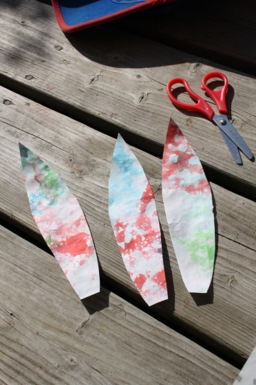 cutting feathers for turkey craft