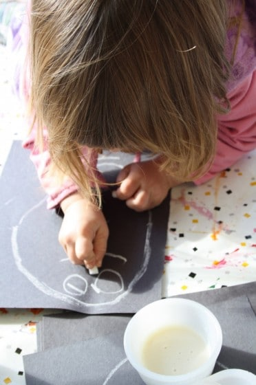 toddler drawing shots