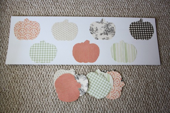 paper pumpkins for toddler matching game