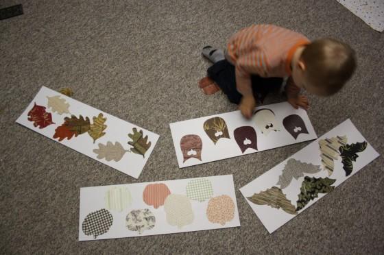 toddler matching halloween shapes