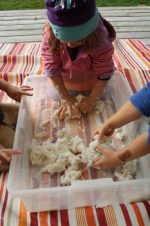 Clean Mud – a 2 Ingredient Sensory Activity for Toddlers and Preschoolers