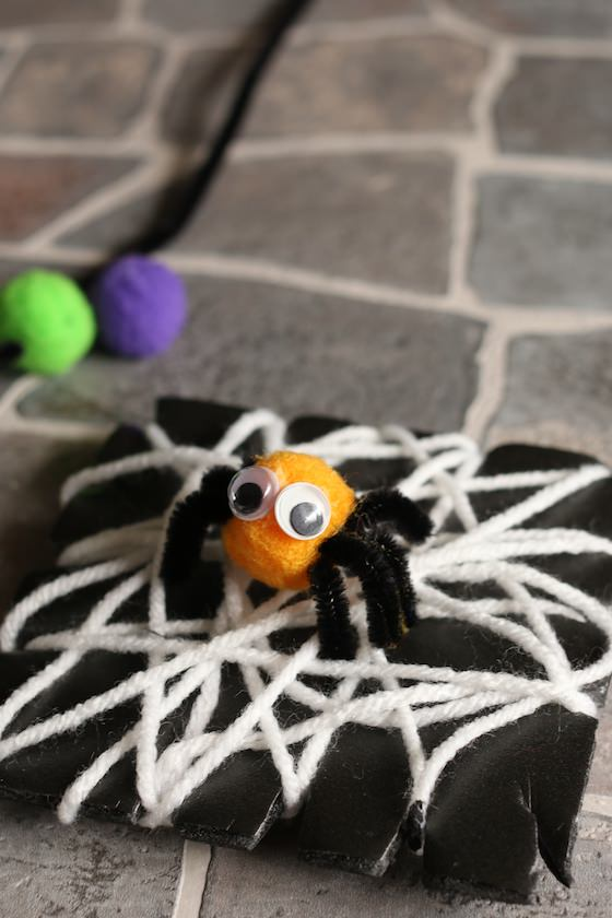cute and easy spider and web craft for toddlers and preschoolers