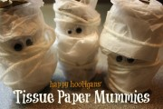 tissue paper mummies - happy hooligans