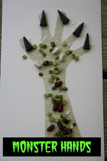 Monster Hands: a Fun and Freaky Halloween Craft for Preschoolers