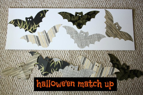 homemade halloween matching game