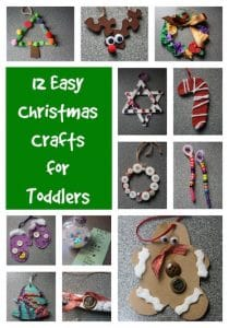 12 Easy Christmas Crafts for Toddlers - Happy Hooligans