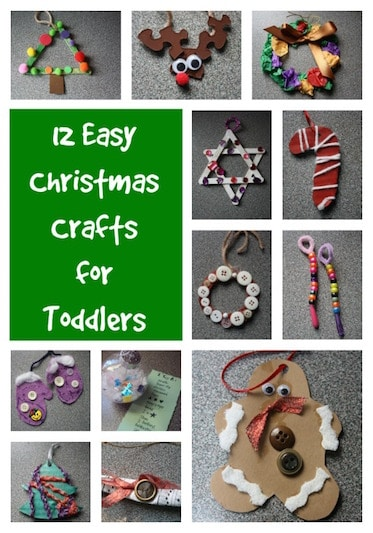 Easy Christmas Crafts for Kids – 12 Easy Christmas Ornaments for Kids