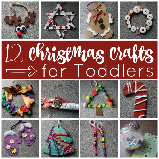 12 easy christmas crafts for toddlers and preschoolers - Homemade Christmas Ornament Ideas