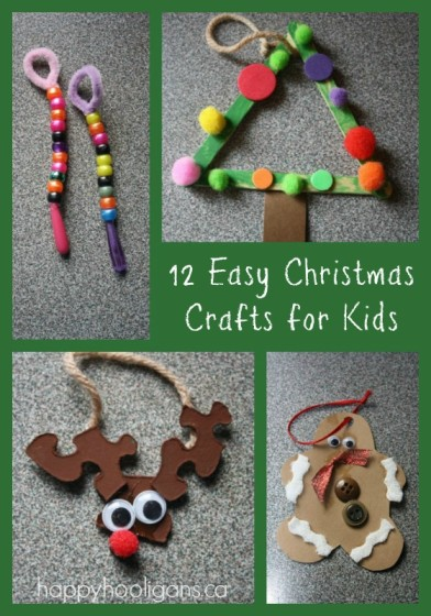 Easy christmas crafts for toddlers happy hooligans