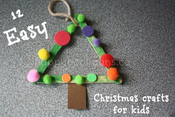 Simple Christmas Craft For Preschoolers : Christmas crafts for kids easy homemade ornaments