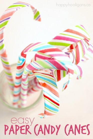 How to make paper candy canes