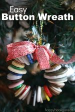 Button Wreath Ornament for the Christmas Tree