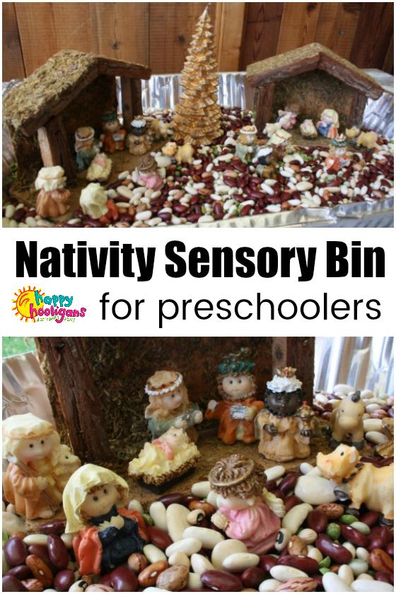Nativity Sensory Bin for Preschoolers