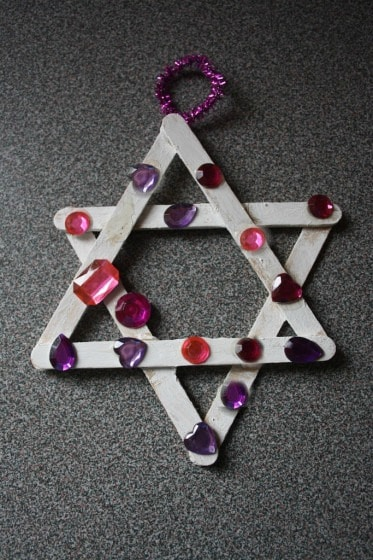 craft stick jewelled star ornament