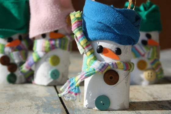 Toilet Roll Snowman Craft for Preschoolers